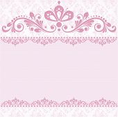 foto of wedding invitation  - Elegant vintage damask vector invitation template - JPG