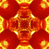 Seamless Symmetrical Pattern Abstract Warm Fire Texture poster