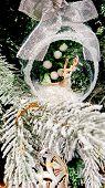 Decoration On The Christmas Tree. Christmas Tree Decorations And Decorations In The Design. poster