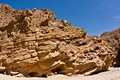 image of anza  - Interesting rock formations in the desert in California - JPG