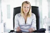 Businesswoman Sitting In Office With Personal Organizer