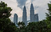 image of petronas twin towers  - KUALA LUMPUR  - JPG