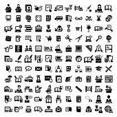 image of sign-boards  - 121 Elegant Vector Education And School Icons Set - JPG