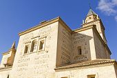 stock photo of sult  - Santa Maria church next to the Carlos V Palace at the Alhambra Granada Spain - JPG