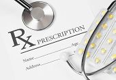 stock photo of prescription  - Medical ideas  - JPG