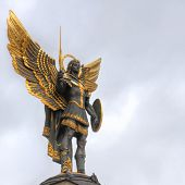 picture of patron  - Archangel Michael the patron saint of Kiev in Independence Square - JPG