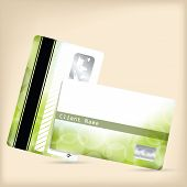 Loyalty Card With Green Bubble Background