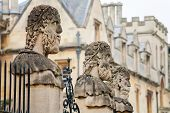 foto of philosopher  - Statues outside the Sheldonian Theatre - JPG