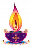 stock photo of jain  - Indian style new year oil lamp pattern design - JPG