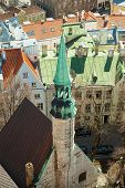 stock photo of olaf  - Aerial view on small bell tower of St - JPG