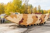 Tracked amphibious carrier PTS-4. Russia