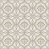Vector Seamless Paper Cut  Floral Pattern, Indian Style