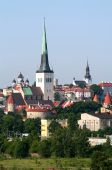 foto of olaf  - View of the Old Town area of Tallinn in Estonia including the spire of St. Olaf
