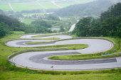 picture of unnatural  - famous winding road in Korea called Odo - JPG