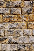 vintage image of old style aged cracked stone wall