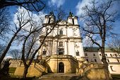 KRAKOW, POLAND - FEB 17, 2014: View of the Church of St. Stanislaus Bishop. In 1733-1751 the church