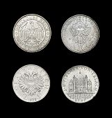 stock photo of hitler  - Set of coins of German - JPG