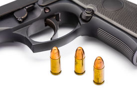 stock photo of mm  - Close up of 9 mm - JPG