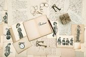 picture of edwardian  - antique accessories old letters and fashion drawings from 1911 - JPG