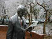 pic of droopy  - a heavy ice storm left this statue looking a bit droopy - JPG
