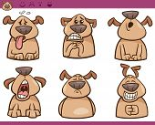 picture of belching  - Cartoon Illustration of Funny Dogs Expressing Emotions Set - JPG