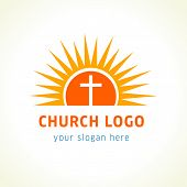 picture of sun god  - Template logo for churches and Christian organizations cross on the sun - JPG