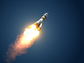 picture of spaceman  - Carrier Rocket Takes Off - JPG