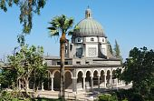 image of beatitudes  - Church on the Mount of Beatitudes near Lake Kinneret  - JPG