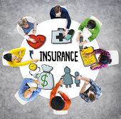 pic of safety  - Insurance Protection Guarantee Safety Security Safety Concept - JPG