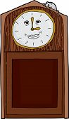 picture of nursery rhyme  - Isolated grinning grandfather clock with mouse on top - JPG