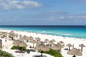 image of yucatan  - A view of Playa Delfines in Cancun - JPG