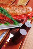 stock photo of french curves  - sandwich on plate  - JPG