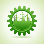 pic of wind wheel  - Ecology concept  - JPG