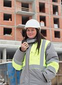 foto of inspection  - Civil Engineer at at construction site is inspecting ongoing production