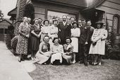 Vintage Family 1937 antique photo