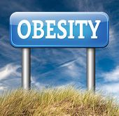 stock photo of obese  - obesity and over weight diet road sign