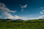 picture of pieniny  - Green hills near Cerveny Klastor in Pieniny mountains Slovakia - JPG
