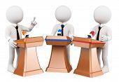 picture of debate  - 3d white people - JPG