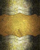 stock photo of nameplates  - Grunge nameplate for design on grunge yellow background - JPG