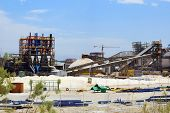 picture of dead plant  - plant for the production of mineral fertilizers and magnesium on the Dead Sea in Israel - JPG