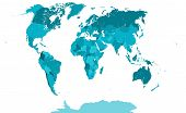 picture of political map  - This is a very detailed political map of the world - JPG