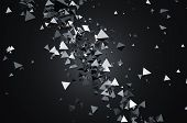 stock photo of pyramid shape  - Abstract 3d rendering of chaotic particles - JPG