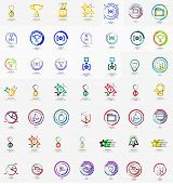 stock photo of universal sign  - Large corporate company logo collection - JPG