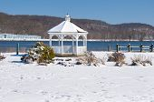picture of gazebo  - Gazebo on the Connecticut River ready for warmer weather - JPG