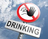 foto of alcoholic drinks  - stop drinking alcohol no alcoholism or drunk driving addict alcoholic to rehabilitation - JPG