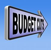 pic of budget  - budget cuts reduce costs and cut spendings during crisis or economic recession