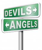 picture of hells angels  - devils and angels good or bad heaven and hell - JPG