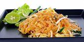stock photo of thai food  - Thai food Pad thai Stir fry noodles. ** Note: Shallow depth of field - JPG
