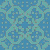 stock photo of symmetry  - Seamless symmetry of blue and orange lines - JPG