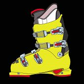 image of ski boots  - Sports rigid men - JPG